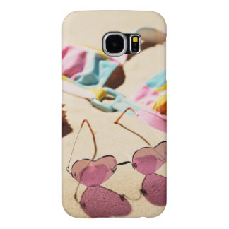 Bikini Top And Heart Shape Sunglasses On Beach Samsung Galaxy S6 Cases