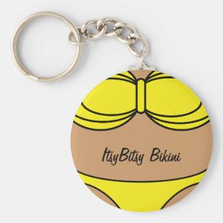 Bikini Yellow Key Chain