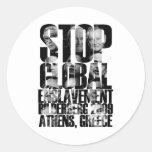 Bilderberg (ANTI-NWO War) Classic Round Sticker
