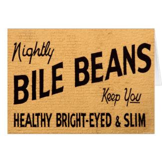 Bile Beans Greeting Card