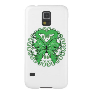 Bile Duct Cancer Butterfly Heart Ribbon Case For Galaxy S5