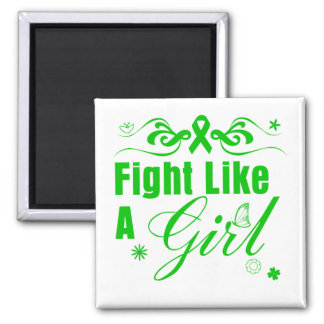 Bile Duct Cancer Fight Like A Girl Ornate Square Magnet
