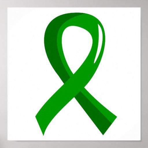 Bile Duct Cancer Green Ribbon 3 Print