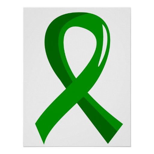 Bile Duct Cancer Green Ribbon 3 Poster