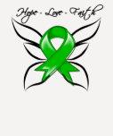 Bile Duct Cancer Hope Love Faith T Shirts