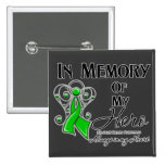 Bile Duct Cancer In Memory of My Hero 15 Cm Square Badge