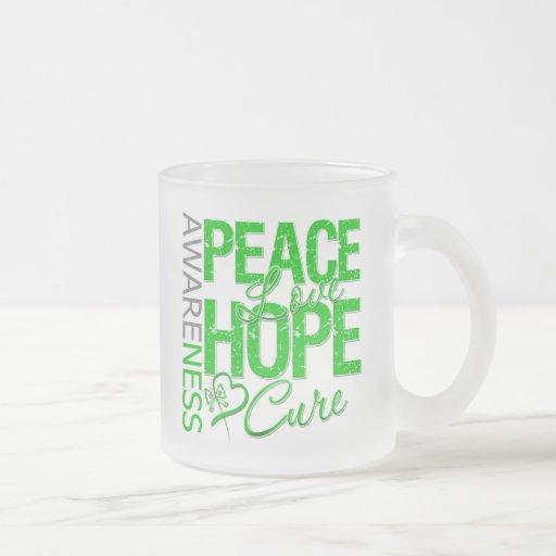 Bile Duct Cancer Peace Love Cure Mugs