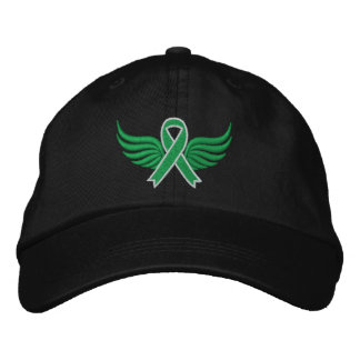 Bile Duct Cancer Ribbon Wings Embroidered Hats