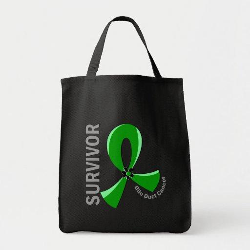 Bile Duct Cancer Survivor 12 Canvas Bags