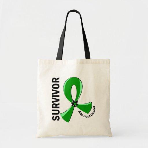 Bile Duct Cancer Survivor 12 Tote Bags