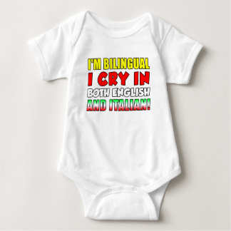 Bilingual Cry In Italian Baby Bodysuit
