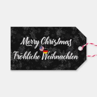 Bilingual German American Holiday Gift Tags