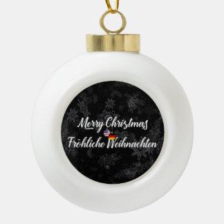 Bilingual German American Holiday Ornament