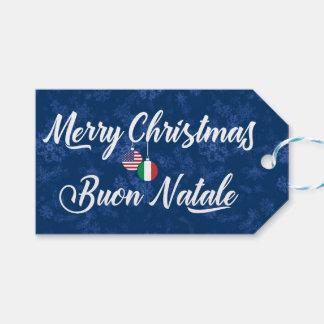 Bilingual Italian American Holiday Gift Tags