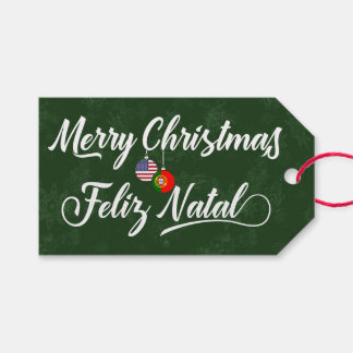Bilingual Portuguese American Holiday Gift Tags