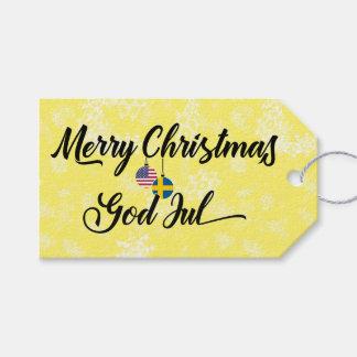 Bilingual Swedish American Holiday Gift Tags