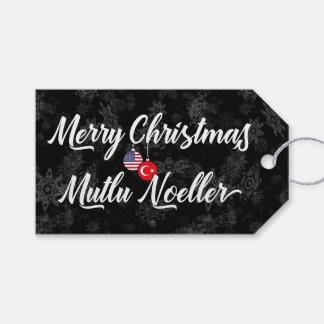 Bilingual Turkish American Holiday Gift Tags