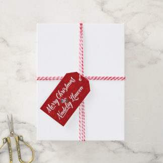 Bilingual Welsh American Holiday Gift Tags