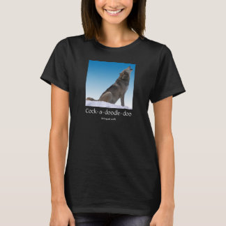Bilingual Wolf Crowing T-Shirt