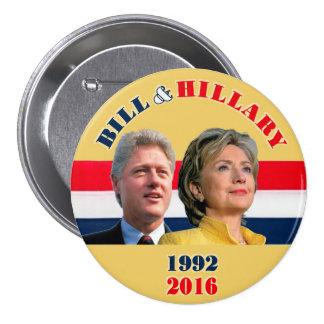 Bill 1992 & Hillary 2016 7.5 Cm Round Badge