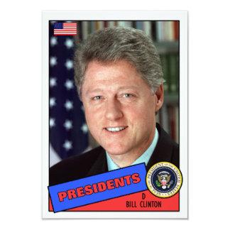 Bill Clinton Baseball Card 9 Cm X 13 Cm Invitation Card
