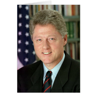Bill Clinton Card