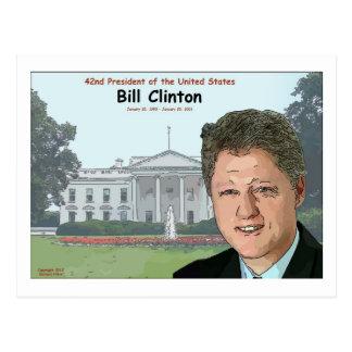 Bill Clinton Cartoon Postcard