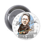 Bill Clinton Political Rockstar! Button