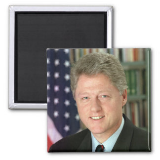 Bill Clinton Square Magnet