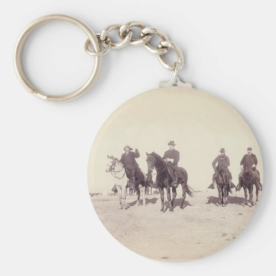 Bill Cody and Riders Basic Round Button Key Ring