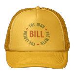 Bill Man Myth Legend Customisable Hats