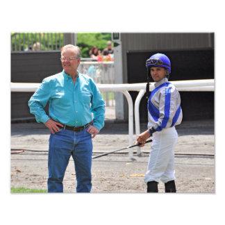 Bill Mott and Jose Lezcano at Belmont Park Photo Art