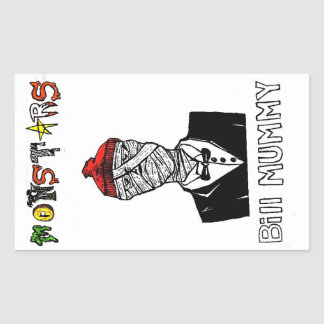 Bill Mummy Rectangular Sticker