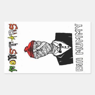 Bill Mummy Rectangular Sticker