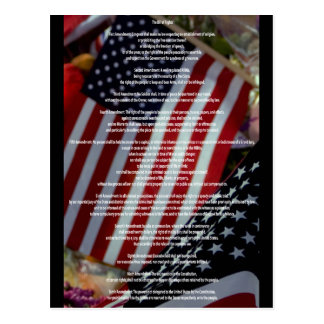 Bill of Rights and Flag Postcard