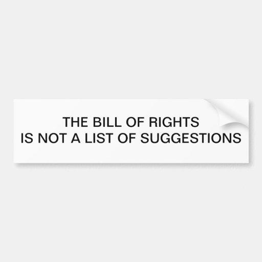 Bill of Rights Bumper Stickers
