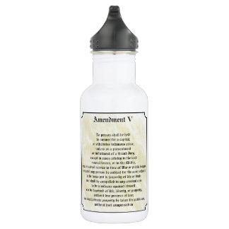 Bill of Rights Fifth Amendment 532 Ml Water Bottle