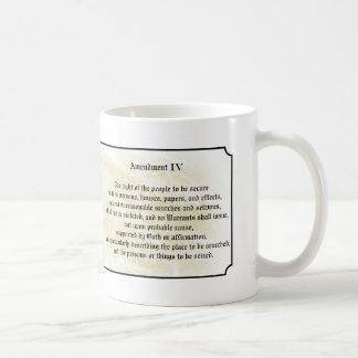 Bill of Rights - Fourth Amendment Basic White Mug