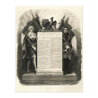 Bill of Rights French Constitution of 1795 Gallery Wrapped Canvas