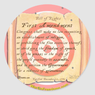 Bill of Rights Stickers