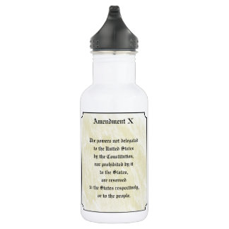 Bill of Rights Tenth Amendment 532 Ml Water Bottle