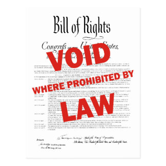Bill of Rights -VOID Postcard