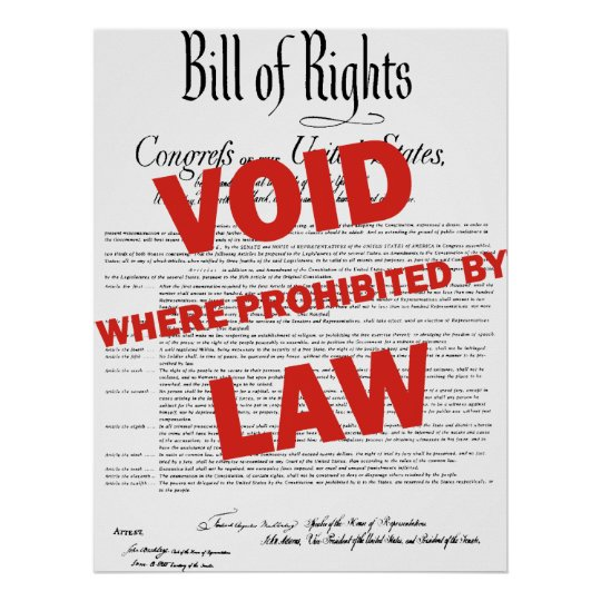Bill of Rights - VOID Poster