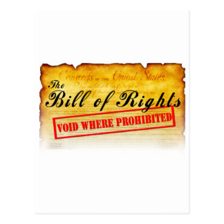 Bill of Rights - Void where prohibited Postcards