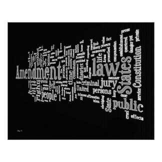 Bill of Rights Word Cloud #2 Poster