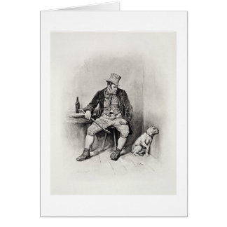 Bill Sykes and his dog, from 'Charles Dickens: A G Card