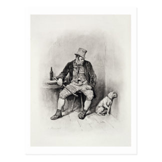 Bill Sykes and his dog, from 'Charles Dickens: A G Postcard