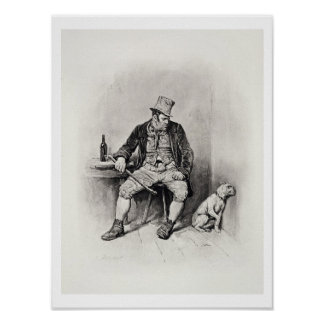 Bill Sykes and his dog, from 'Charles Dickens: A G Poster