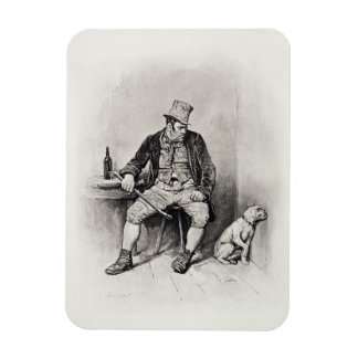 Bill Sykes and his dog, from 'Charles Dickens: A G Rectangular Photo Magnet
