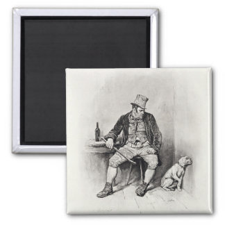 Bill Sykes and his dog, from 'Charles Dickens: A G Square Magnet